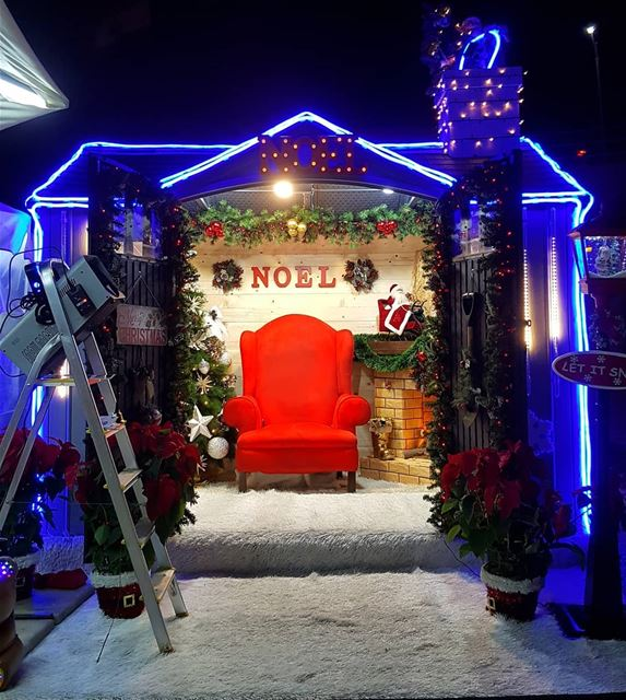 It's all set, waiting for  santa  santaclaus  santasvillage ... (Byblos - Jbeil)